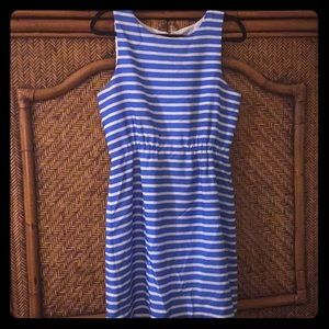 Nautical blue and white striped dress J Crew